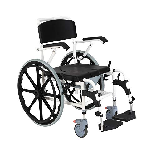 - HOMCOM Rolling Shower Commode Wheelchair