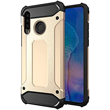 Amazon.com: HMTECHUS Huawei P30 Lite Case Heavy Duty Hybrid ...