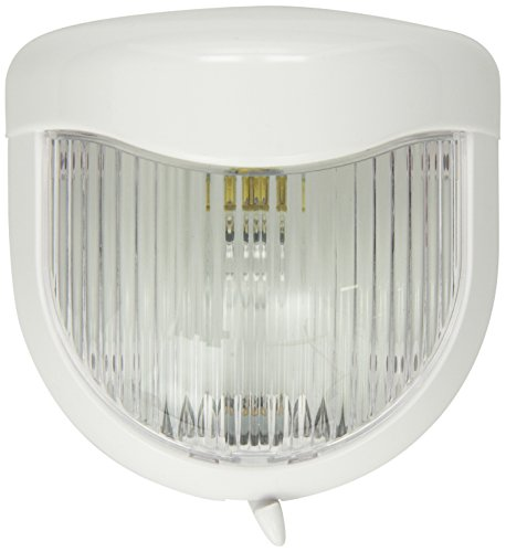 Bargman 30-80-003 Porch Light with White Base, Clear Lens