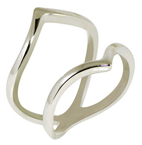 Banithani 925 argent sterling belle bande de bague en métal solide mixte de bijoux mode