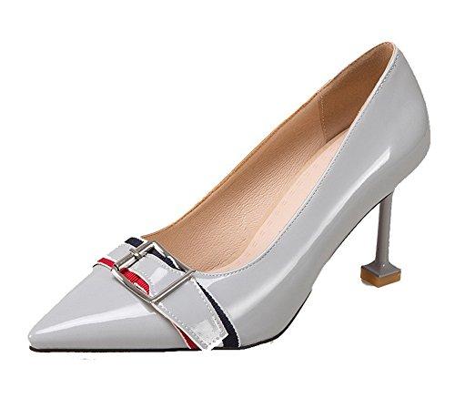 Odomolor Damen Spitz Zehe Ziehen auf Pailletten Rein Hoher Absatz Pumps Schuhe, Schwarz, 42