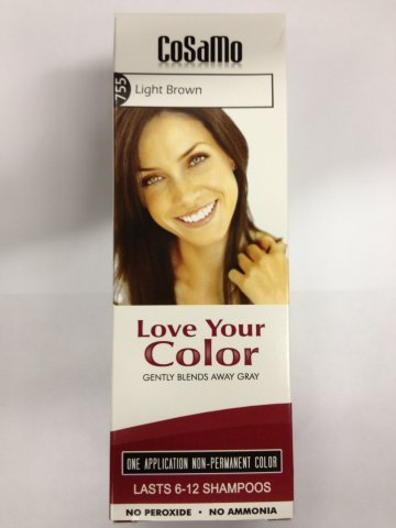 light brown box dye - 9