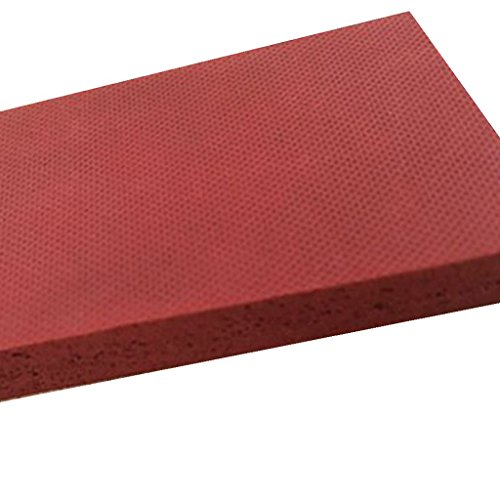LMS Silicone Sponge Foam Rubber Sheet, Textured, Closed Cell,High Temp Heat Press, Red 19.7 x 19.7 x 0.12 inch