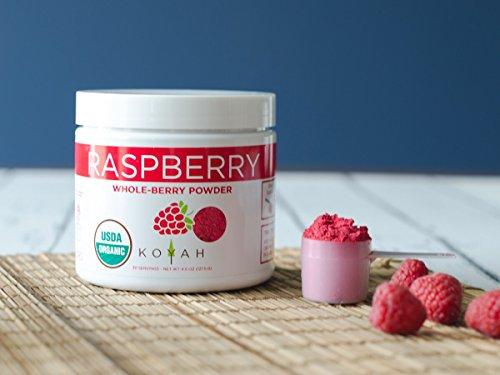 KOYAH - Organic Raspberry Powder (Equivalent to 450 Raspberries): Whole-Berry Powder, Raw, 100% Freeze-Dried