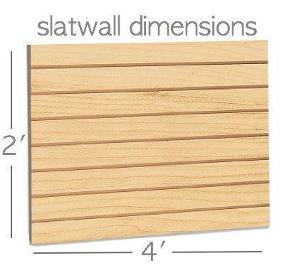 Maple Slatwall Panels Organizer Kit - Includes (2) - 24'' x 48'' Maple Slatwall Panels plus (15) - 4'' Black Slatwall Hooks and (15) - 6'' Black Slatwall Hooks