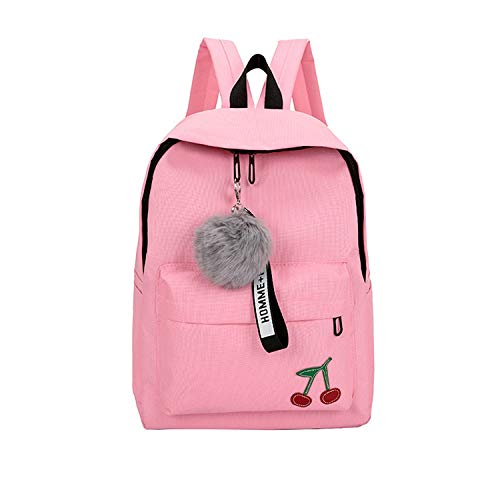 Pink School Bags Backpack Female for Teenagers Girls High School Student Schoolbag Women College Wind Nylon Bookbag 2019 New,Pink