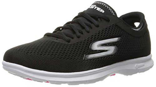 Go Step Black Trainers White Skechers Women's pfa6xwq50