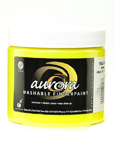 Chroma Inc. Aurora Washable Finger Paint yellow [PACK OF 4 ]