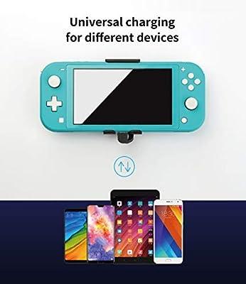 Banco de energía portátil de 5000 mAh para Nintendo Switch Lite, con estuche de carga de batería de respaldo, aplicado a la carga para teléfonos inteligentes y tabletas Nintendo Switch Lite: Amazon.es: