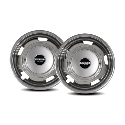Pacific Dualies 29-2708 17'' Polished Stainless Steel Wheel Simulator Front Tag Axle Kit for 2008-2010 Chevy GMC 3500/Truck RV Motorhome by Pacific Dualies
