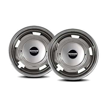 Pacific Dualies 29-3708 17 Polished Stainless Steel Wheel Simulator Rear Tag Axle Kit for 2008-2010 Chevy GMC 3500//Truck RV Motorhome