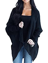 Womens Cardigans Oversized Open Front Long Sleeve Lightweight Cardigan Sweaters with Pockets