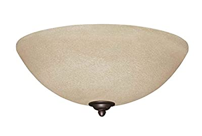 Emerson Amber Mist Glass Light Fixture with Antique Brass Bowl Caps, 12.5-Inch Wide, 4.5-Inch High