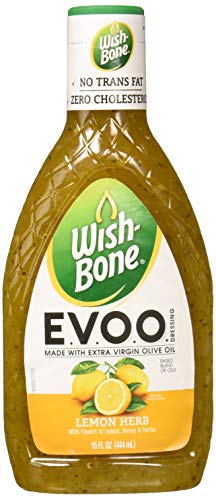 Wish-Bone E.V.O.O. Salad Dressing, Lemon Herb, 15 Ounce