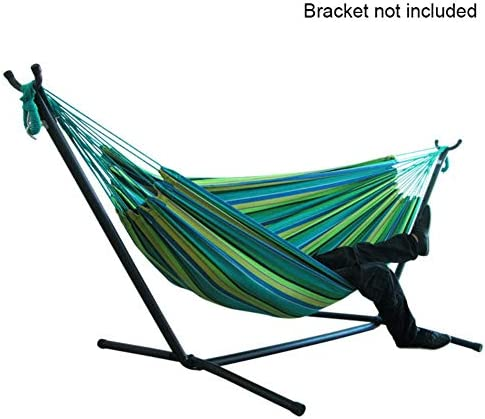 Forart Double Cotton Hammock Comfort Durability Striped Hanging Chair Large Hammock Chair Hammocks Camping Hammock 79×59 Inch Without Stand