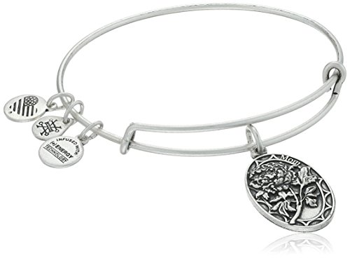 Alex and Ani Because I love you, Mom II Expandable Rafaelian Silver-Tone Bracelet