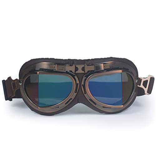 MT&GLAGGLE WWII Harley Style Motorcycle Motocross Moto Goggles Scooter Goggle Glasses Aviator Cruiser ()