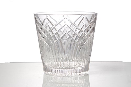 GAC Mouth Blown Crystal Glass Ice Bucket, Suitable for Barware, Capacity of 56oz ()