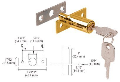 CRL Gold Plated Deluxe Plunger Lock - 267GP by CRL