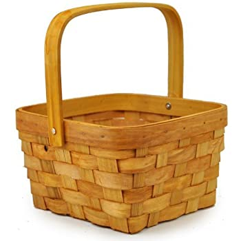 Vintage & Retro Handbags, Purses, Wallets, Bags The Lucky Clover Trading Honey Woodchip Swing Handle Basket $12.99 AT vintagedancer.com