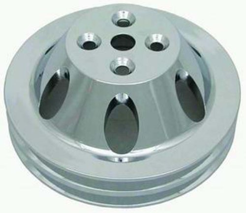Racing Power Company R8842POL Polished Aluminum SWP Double Groove Pulley for Big Block Chevy