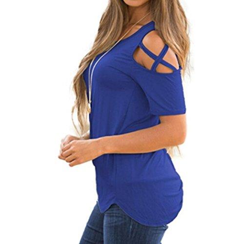 Logobeing Ropa de Mujer Blusas Tops Camisetas Chaleco Chaleco Sin Mangas Irregular Camisas Largas Mujer Cool Pasión Verano |: Amazon.es: Deportes y aire ...