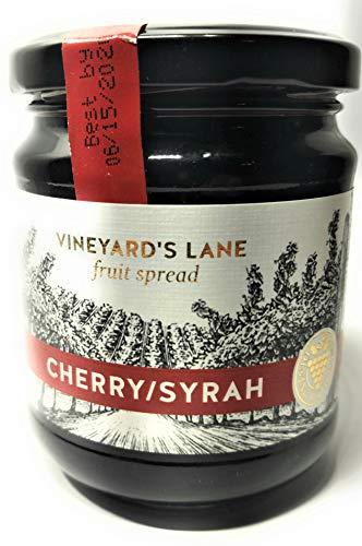 Vineyard's Lane Fruit Spread, Wine Flavored, 8.5oz Jar (Cherry/Syrah)