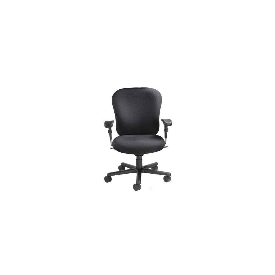 Mid Back 24/7 Heavy Duty Task Chair Fabric Foundation   Charcoal