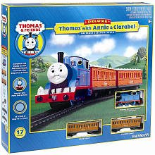 Thomas and Friends Thomas Train With Annie And Clarabel Trains - Play by Bachmann Trains