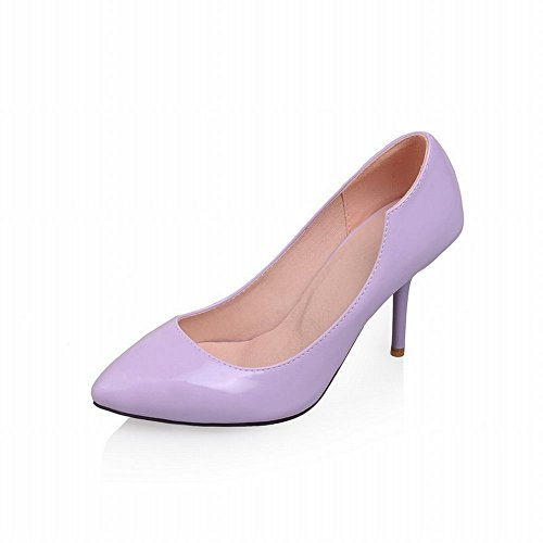 Latasa Donna Affascinante Elegante Scarpe A Punta Stiletto A Spillo Tacco Alto, Scarpe Scarpe Viola