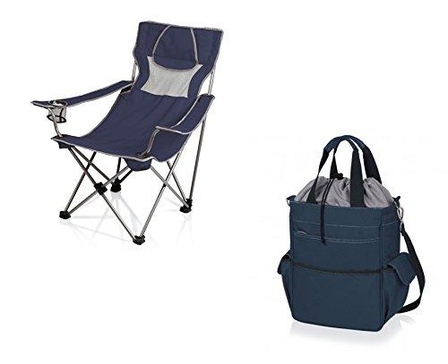 ピクニック時間もOK Chair and Activo Cooler Tote – ネイビー、2のセット B06XPWW5KQ