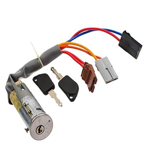 Baoblaze Car Door Anti-theft Lock w/2 Keys Kit for for PEUGEOT 306 93-97