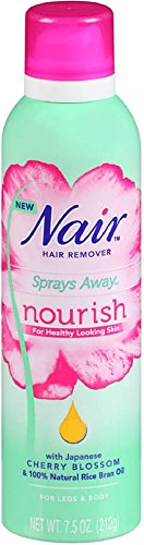 Nair Hair Remover Sprays Away Nourish Legs & Body 7.5 oz (Pack of 12) by Nair