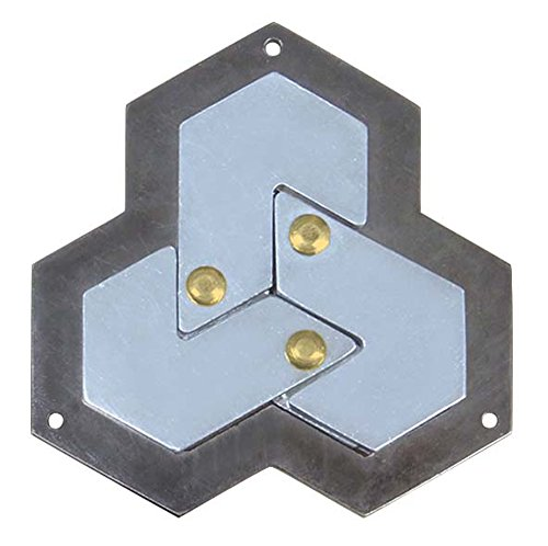 Hexagon Hanayama Cast Metal Brain Teaser Puzzle