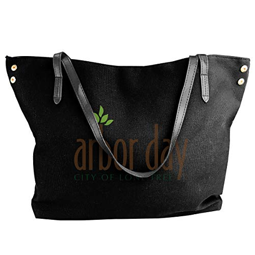 Women's Stylish Casual Tote Bag Canvas Travel Bags - Arbor Day Shoulder Bags