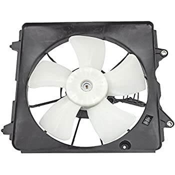 Drivers Radiator Cooling Fan Motor Assembly Replacement for Acura ILX Honda Civic 19020-R1A-A01 AutoAndArt