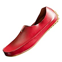 XiaoYouYu Men's Running Outdoor Moccasin Slip-on Driving Shoes