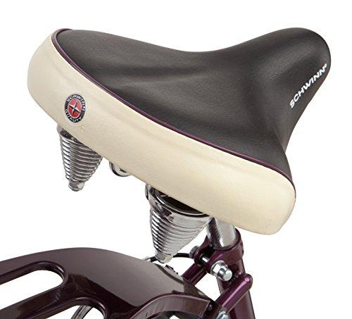 Schwinn Women's Sanctuary 7-Speed Cruiser Bicycle (26-Inch Wheels), Cream/Purple, 16-Inch