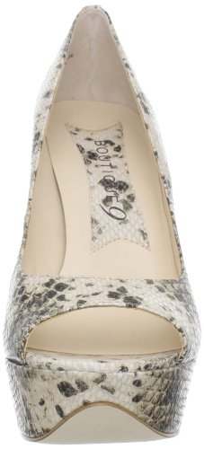 Boutique 9 Mujeres Alessandra Peep-toe Pump Light Natural Leather