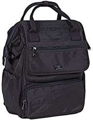 Lug Womens via Tote Backpack, Midnight Black, One Size