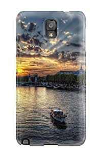 Leslie Hardy Farr's Shop Tpu Fashionable Design Amazing Sunset In Paris Photos Rugged Case Cover For Galaxy Note 3 New