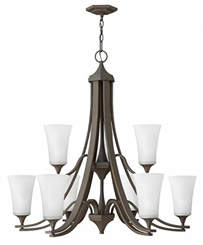 Hinkley 4638OZ-WH Brantley Chandelier, 9-Light 675 Total Watts, Oil Rubbed Bronze - Bellacor Metal Chandelier