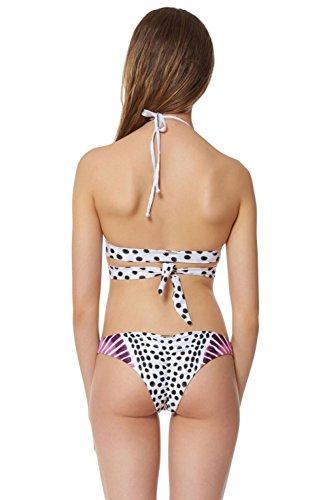SHISHANG Bikiní de las señoras del traje de baño trajes de baño bikini traje de baño de Europa y Estados Unidos retro natación del medio ambiente natación vadeo Pink