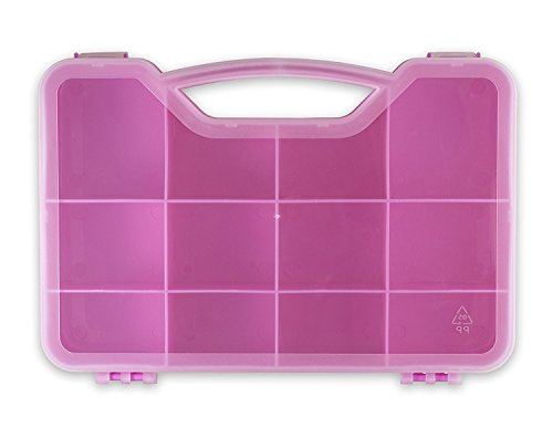 Toys and Crafts Storage Organizer Case Box - Fits Up To 75 Mini Figures Threads In All Styles Shopkins, Num Noms, Pikmi Pops, CollEGGtibles and Others (Pink)