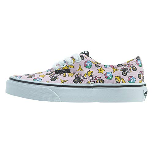 Vans Nintendo Kids Princess Peach/Motorcycle Authentic Trainers-UK 1 (Peach Vans)
