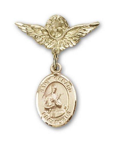 Icecarats Or Bijoux De Créateurs Rempli R. Broches Badge Gerard Charme D'Ange 1 X 3/4