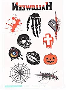 HD Large Halloween Scary Temporary Tattoo Blood