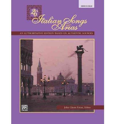 26 italian songs and arias high - 4
