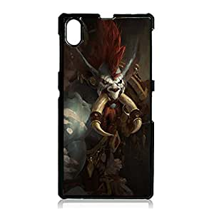 WOW Sony Xperia Z1 Case,Retro Style World Of Warcraft WOW Phone Case Back Protective Shell Cover for Sony Xperia Z1 World Of Warcraft Skin