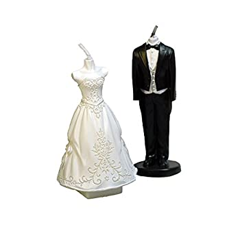 GranVela 2 Piece Creative Bride and Groom Smokeless Candles,Cake Decorating and Party Supplies, Charming Gifts